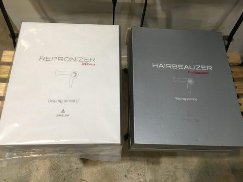 ヘアビューザーとレプロナイザーの箱比較
