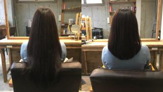 髪の毛の印象は毛先で決まる!?スーパーロングからミディアムに【お客様ヘア】